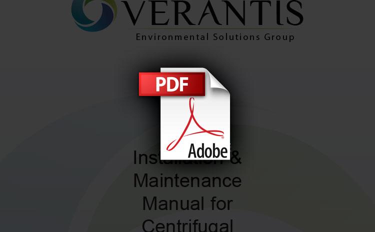 Verantis FRP Fan Installation and Maintenance Manual